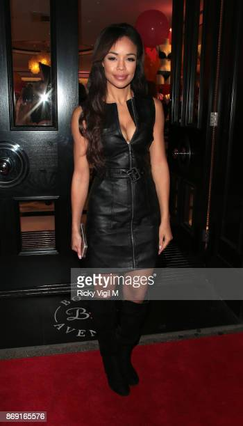 SarahJane Crawford Boux Avenue Christmas campaign launch on November 1 2017 in London England
