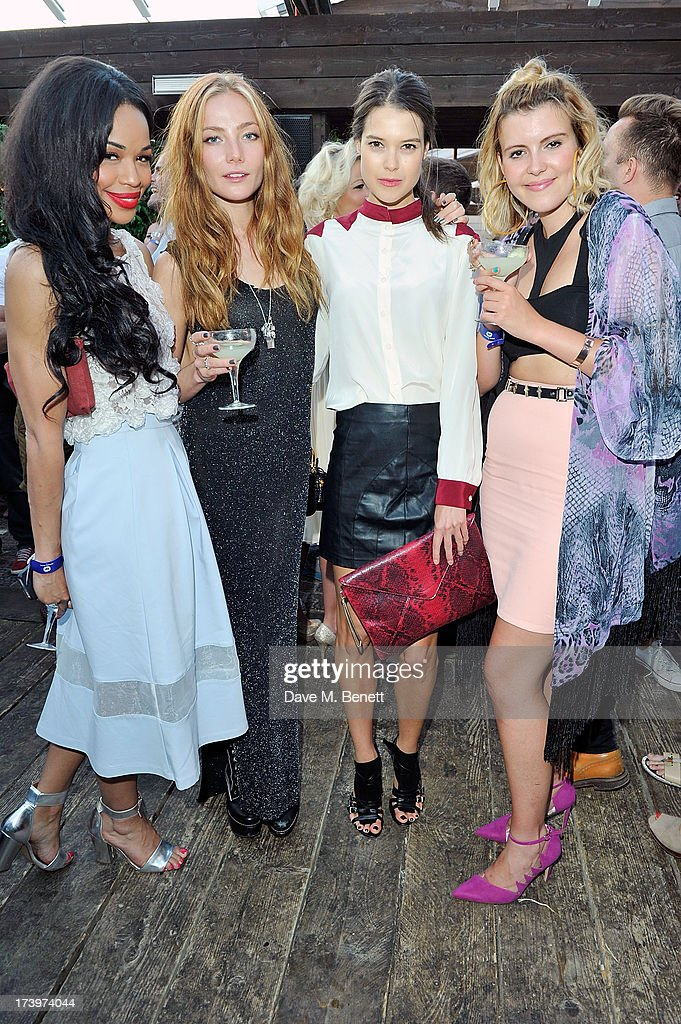 Sarah-Jane Crawford, Clara Paget, Sarah Ann Macklin and Georgia Lewis Anderson attends Warner music group summer party in association with Esquire at Shoreditch House on July 18, 2013 in London, England.