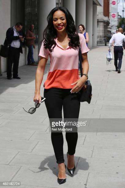 SarahJane Crawford seen arriving at BBC Radio Studios on July 15 2014 in London England
