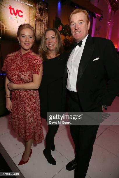 SarahJane Mee Amanda Kline and Mark Dyer attends The Borne Wonderland Gala 2017 at 8 Northumberland Avenue on November 16 2017 in London England