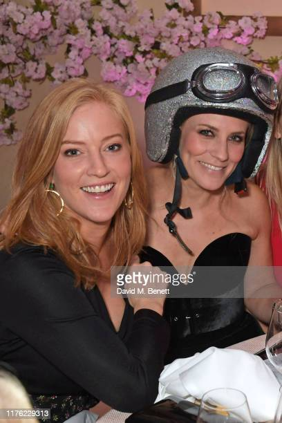 Sarah-Jane Mee and Georgie Ainslie attend the Lady Garden Foundation Gala 2019 at Claridge's Hotel on October 16, 2019 in London, England.