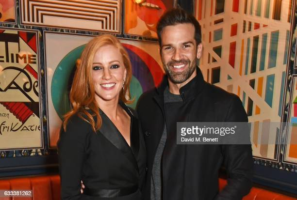 SarahJane Mee and Gethin Jones attend the InStyle EE Rising Star Party ahead of the EE BAFTA Awards at The Ivy Soho Brasserie on February 1 2017 in...