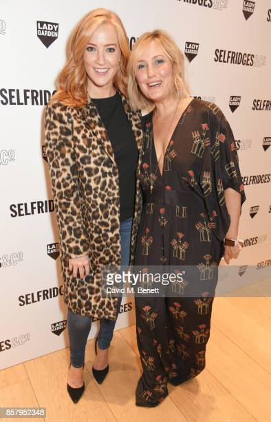 SarahJane Mee and Mika Simmons attend the launch of the new Lady Garden limited edition tshirts designed by Naomi Campbell Cara Delevingne Poppy...