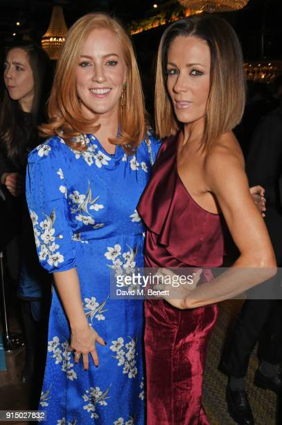 SarahJane Mee and Natalie Pinkham attend the InStyle EE Rising Star Party at Granary Square on February 6 2018 in London England