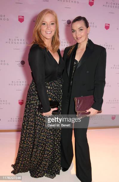 Sarah-Jane Mee and Victoria Pendleton attend the Lady Garden Foundation Gala 2019 at Claridge's Hotel on October 16, 2019 in London, England.