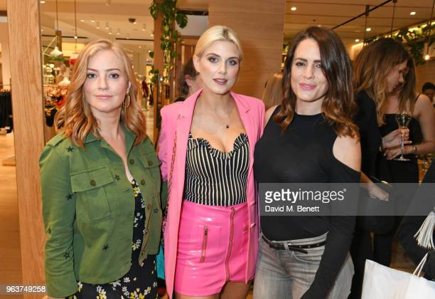 SarahJane Mee Ashley James and Susie Amy attend a VIP dinner hosted by Sweaty Betty to celebrate their new Selfridges shop at Hemsley Hemsley in...