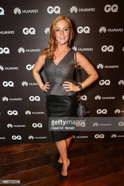 SarahJane Mee at the Huawei Watch Launch event at Mondrian Hotel on November 4 2015 in London England