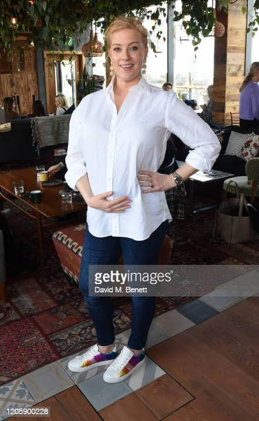 """Sarah-Jane Mee attends a live broadcast of """"The Happy Vagina"""" podcast at Treehouse Hotel London on March 8, 2020 in London, England."""
