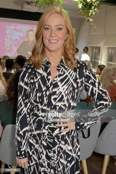 """Sarah-Jane Mee attends a live recording of Mika Simmons' new podcast """"The Happy Vagina"""" at The AllBright Mayfair on September 17, 2019 in London,..."""