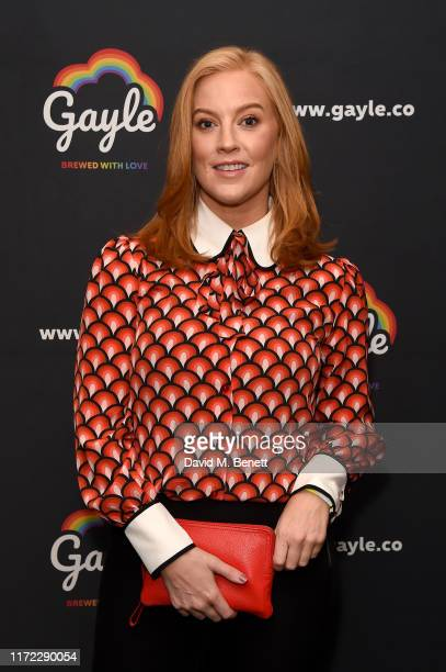 Sarah-Jane Mee attends Australia's Gayle Lager and Cider launch at The W Hotel, supporting the LGBTQ+ community, on September 04, 2019 in London,...