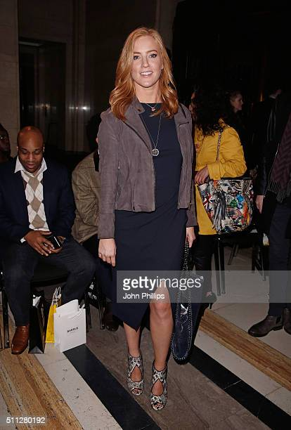 SarahJane Mee attends the Barrus Show at Fashion Scout during London Fashion Week Autumn/Winter 2016/17 at Freemasons' Hall on February 19 2016 in...