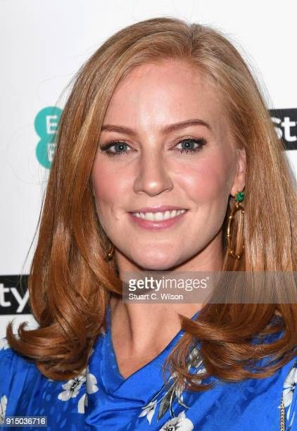 SarahJane Mee attends the EE InStyle Party held at Granary Square Brasserie on February 6 2018 in London England