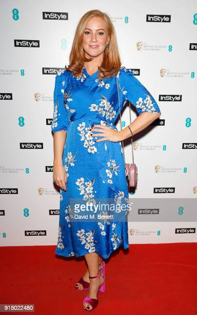 SarahJane Mee attends the InStyle EE Rising Star Party Ahead Of The EE BAFTAs at Granary Square on February 6 2018 in London England