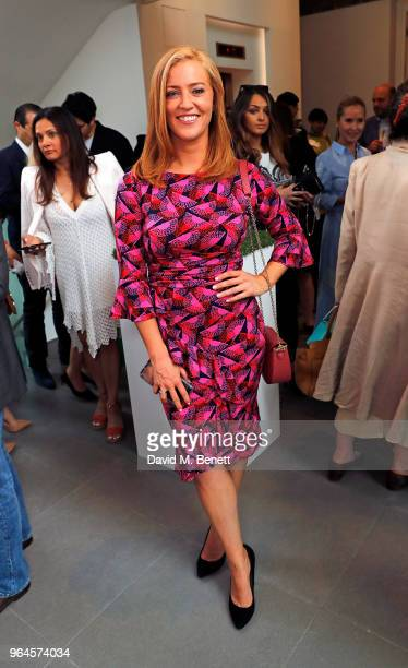 SarahJane Mee attends the Mouna Rebeiz private view of The Trashc Or Trash in the face of beauty at Saatchi Gallery at Saatchi Gallery on May 31 2018...