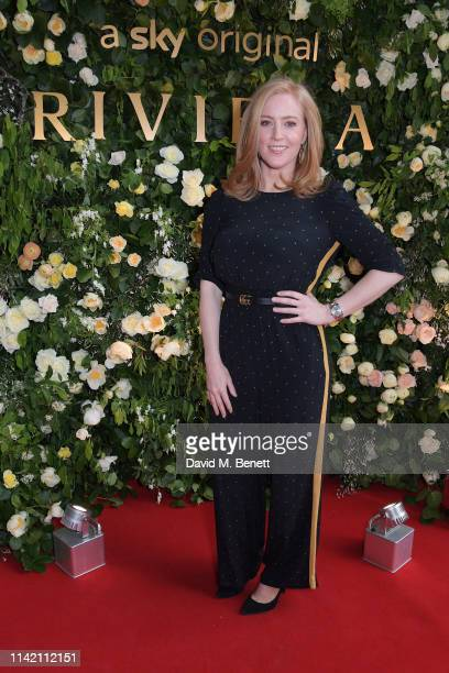 SarahJane Mee attends the Premiere Screening for the new season of Sky Original Riviera at The Saatchi Gallery on May 7 2019 in London England