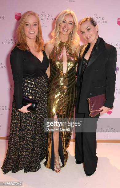 Sarah-Jane Mee, Jenny Halpern Prince and Victoria Pendleton attend the Lady Garden Foundation Gala 2019 at Claridge's Hotel on October 16, 2019 in...