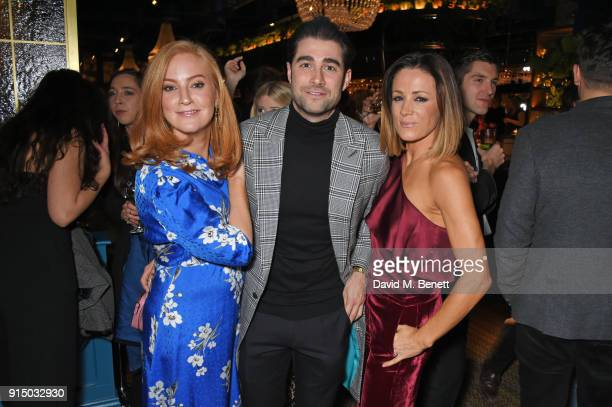 SarahJane Mee Matt Johnson and Natalie Pinkham attend the InStyle EE Rising Star Party at Granary Square on February 6 2018 in London England