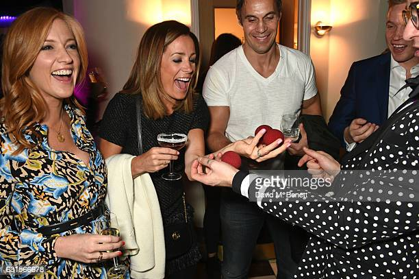 SarahJane Mee Natalie Pinkham and Adam Bidwell attend the launch of Bunga Bunga in Covent Garden on January 12 2017 in London England