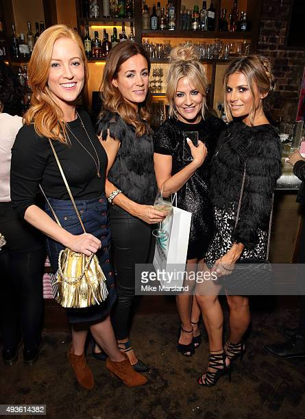 SarahJane Mee Natalie Pinkham Caroline Flack and Zoe Hardman attend the launch of Caroline Flack's new autobiography Storm In A C Cup at Library on...