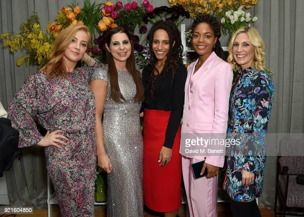 SarahJane Mee of Sky News Debbie Wosskow OBE Naomie Harris and guests attend the first femaleonly members club in the UK for working women The...