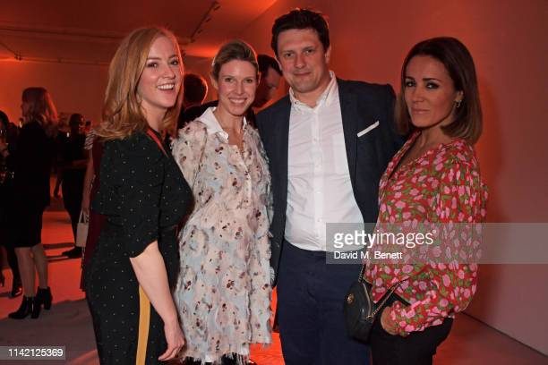 SarahJane Mee Penny Bennett Zai Bennett and Natalie Pinkham attend the Premiere Screening for the new season of Sky Original Riviera at The Saatchi...