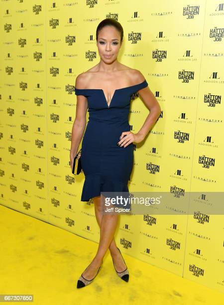SarahJayne Crawford attends The Hatton Garden Job world premiere at the Curzon Soho on April 11 2017 in London England