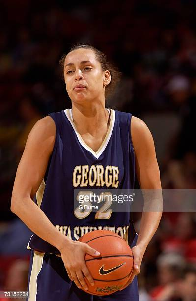 SarahJo Lawrence of the George Washington Colonials during the game against the Maryland Terrapins November 19 2006 at Comcast Center in College Park...