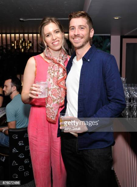 SarahViolet Bliss and Garrett Miller at the 'Search Party' cocktail reception during Vulture Festival LA presented by ATT on November 18 2017 in...
