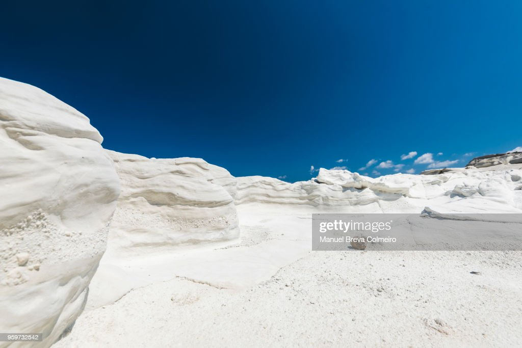 Sarakiniko beach : Stock-Foto