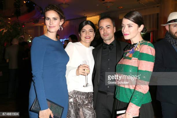 Saralisa Volm Jasmin Tabatabai Nikolai Kinski and Anna Bederke during the Lola German Film Award after party at Palais am Funkturm on April 28 2017...