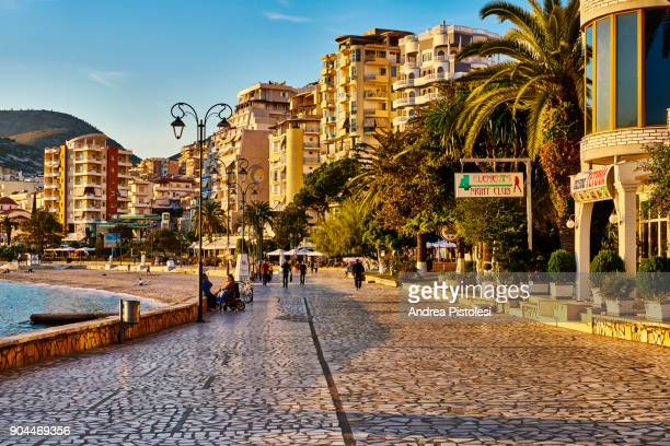 sarande city in albania - albania stock pictures, royalty-free photos & images