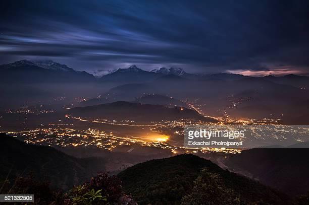 Sarangkot night view