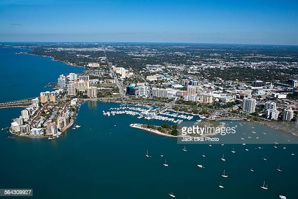 sarasota florida skyline - sarasota stock photos and pictures