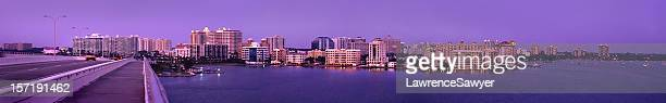 sarasota panorama - sarasota stock photos and pictures