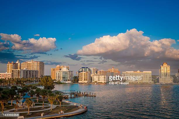 sarasota waterfront, florida - sarasota stock photos and pictures