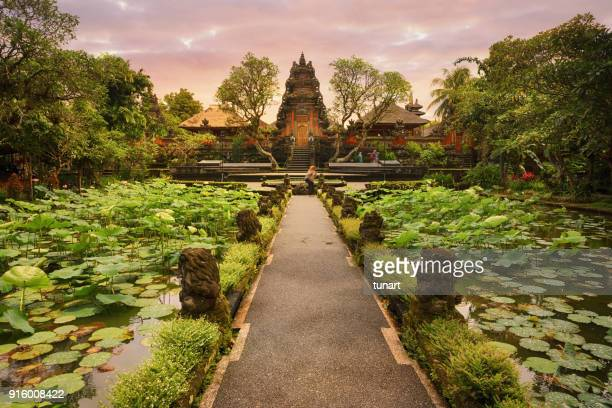 saraswati temple, ubud, bali - saraswati stock photos and pictures