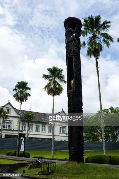 sarawak state museum, kuching - sarawak state stock pictures, royalty-free photos & images