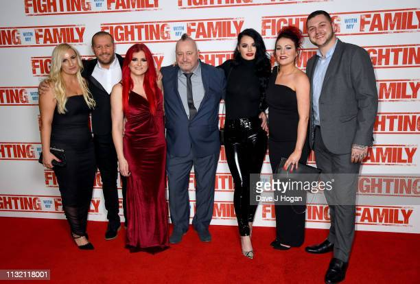 Saraya Knight Ricky Knight Paige Knight and Zak Knight attend the UK Premiere of Fighting With My Family at BFI Southbank on February 25 2019 in...