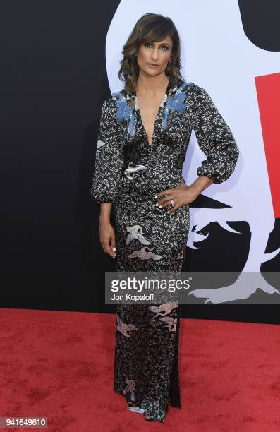 """Sarayu Blue attends Universal Pictures' """"Blockers"""" Premiere at Regency Village Theatre on April 3, 2018 in Westwood, California."""