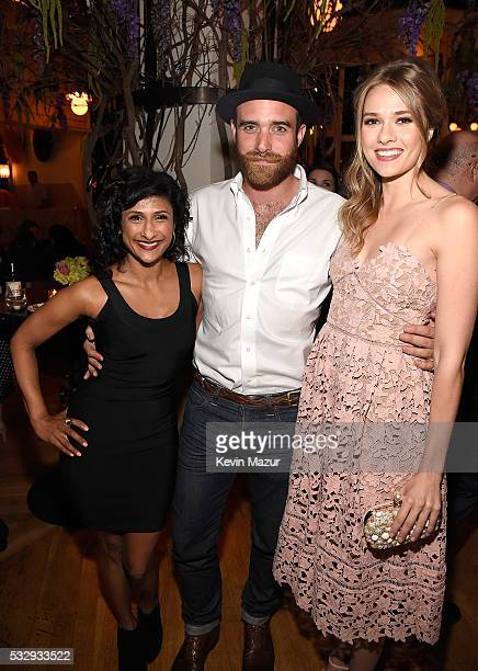Sarayu Blue Joshua Sasse and Tori Anderson attend The CW Network's 2016 Upfront party at Park Avenue Spring on May 19 2016 in New York City