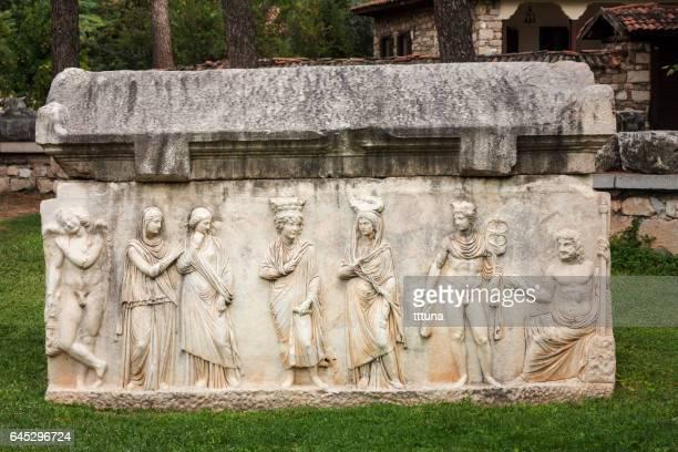 sarcophagus in aphrodisias - venus roman goddess stock pictures, royalty-free photos & images