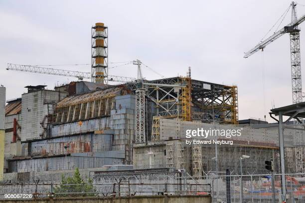 Sarcophagus over Reactor No. 4 of Chernobyl nuclear power plant