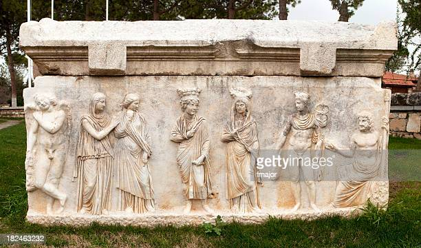sarcophagus - byzantine stock pictures, royalty-free photos & images