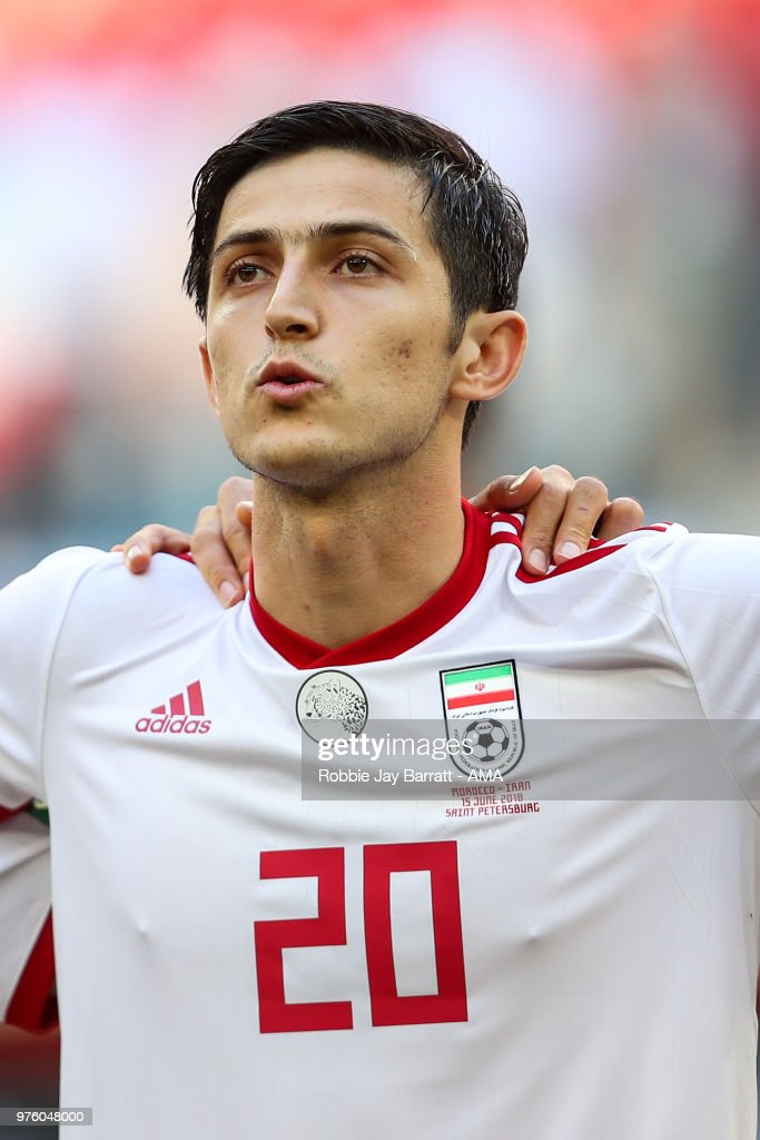 fbb322c2979 Sardar Azmoun of IR Iran during the 2018 FIFA World Cup Russia group ...