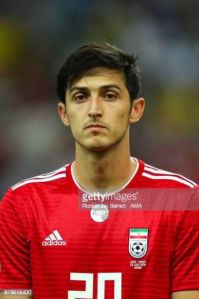 Sardar Azmoun of IR Iran during the 2018 FIFA World Cup Russia group B match between Iran and Spain at Kazan Arena on June 20 2018 in Kazan Russia