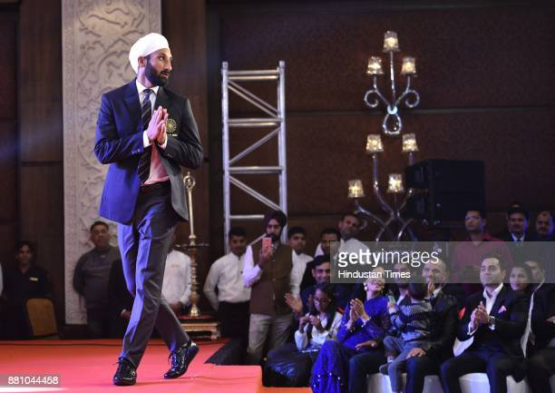 Sardar Singh an Indian professional field hockey player during an award function night organised by Bag Films Network at Taj Palace Hotel on November...