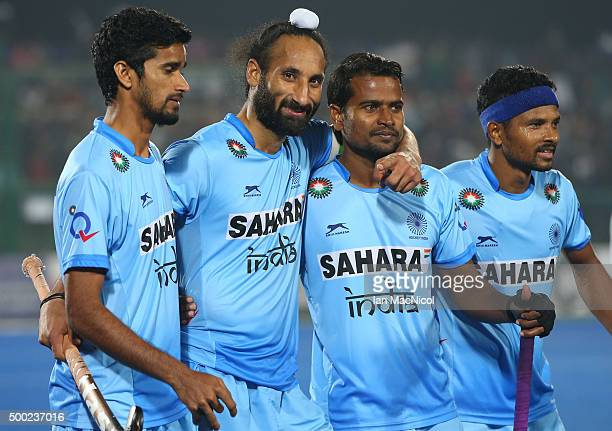 Sardar Singh captain of India looks on during the match between Netherlands and India on day ten of The Hero Hockey League World Final at the Sardar...