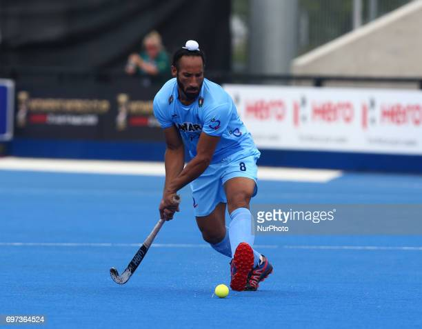 Sardar Singh of India during The Men's Hockey World League SemiFinal 2017 Group B match between Canada and India The Lee Valley Hockey and Tennis...