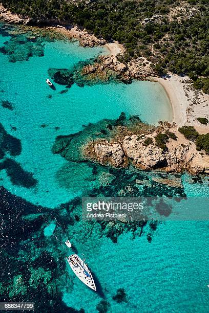 sardinia coastline, italy - sardinia stock pictures, royalty-free photos & images