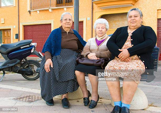 Sardinia, Italy: Three Senior Women Relax on Bench
